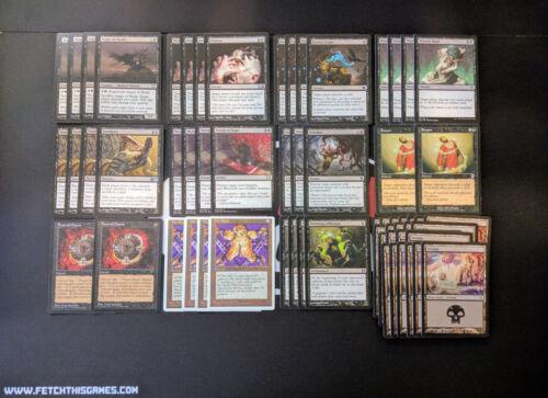 60 Card Deck Discard Magic MTG FTG Modern Ready to Play BLACK 8 RACK