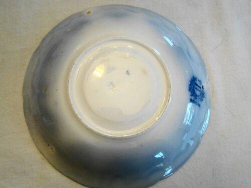"Transferware Flow Blue Transfer Grindley Denton Saucers 1914-25 5 3//4/"""