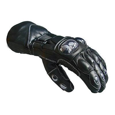 Winter Leather Thermal Lined Biker Motorbike Motorcycle Waterproof Gloves