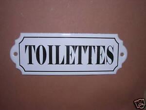 PLAQUE-DE-PORTE-EMAILLEE-Toilettes-EMAIL-VERITABLE-800-C-NEUVE-WC-FAB-EN-FRANCE