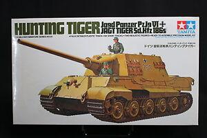 XE053-TAMIYA-1-35-maquette-tank-char-35058-1000-German-Hunting-Tiger-Panzer