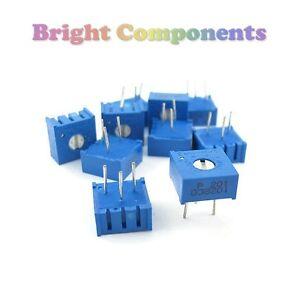 5-Pack-3386-Cermet-Variable-Resistors-Potentiometer-Preset-Trimmer-Pot