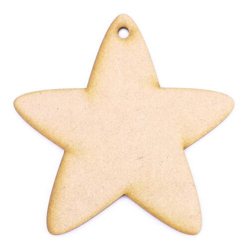 3 mm MDF Laser Cut Craft Blanc Scrapbook Carte Topper embellissement forme étoile de mer