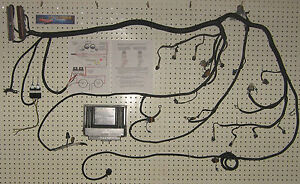 ls1 5 3l 6 0l 4 8l engine wiring harness and pcm stand alone rh ebay com LS1 Engine Swap Wiring Harness camaro ls1 engine wiring harness