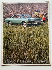 OEM-1965-Chevrolet-Impala-SS-Factory-GM-Original-Dealer-Showroom-Sales-Brochure