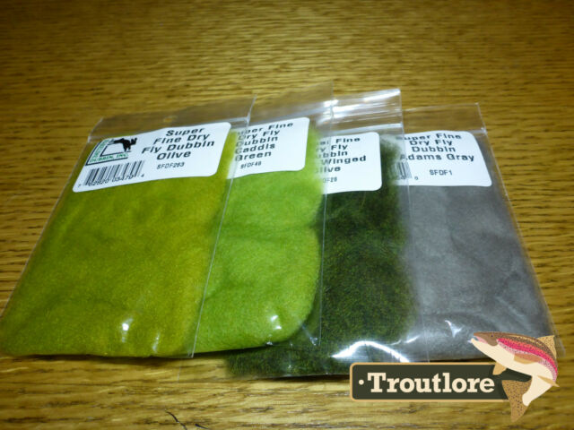 4 PACK SUPER FINE DRY FLY DUBBING HARELINE DUBBIN COMBO NEW FLY TYING MATERIALS