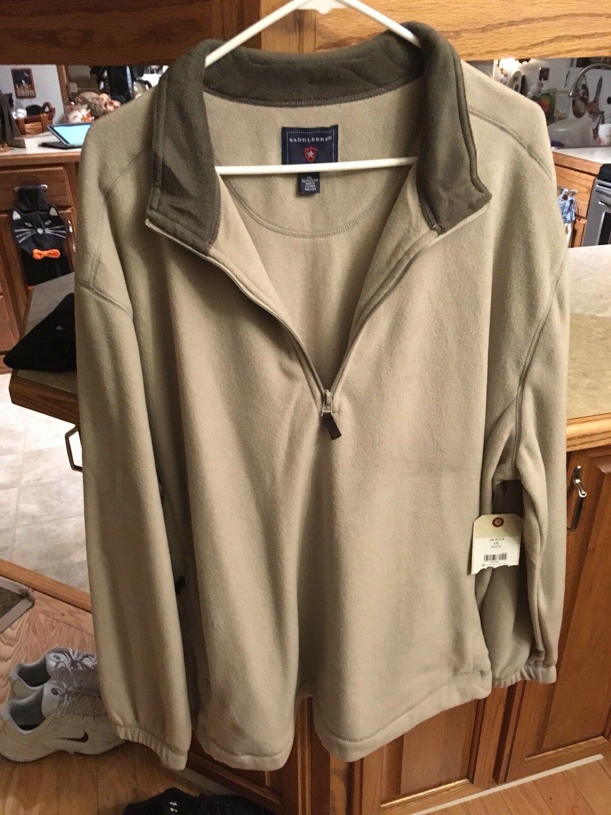 NEW SaddlebROT fleece pullover 2XL