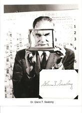 Glenn Seaborg Autograph Nobel Prize Chemistry Transuranium Elements Actinide #1