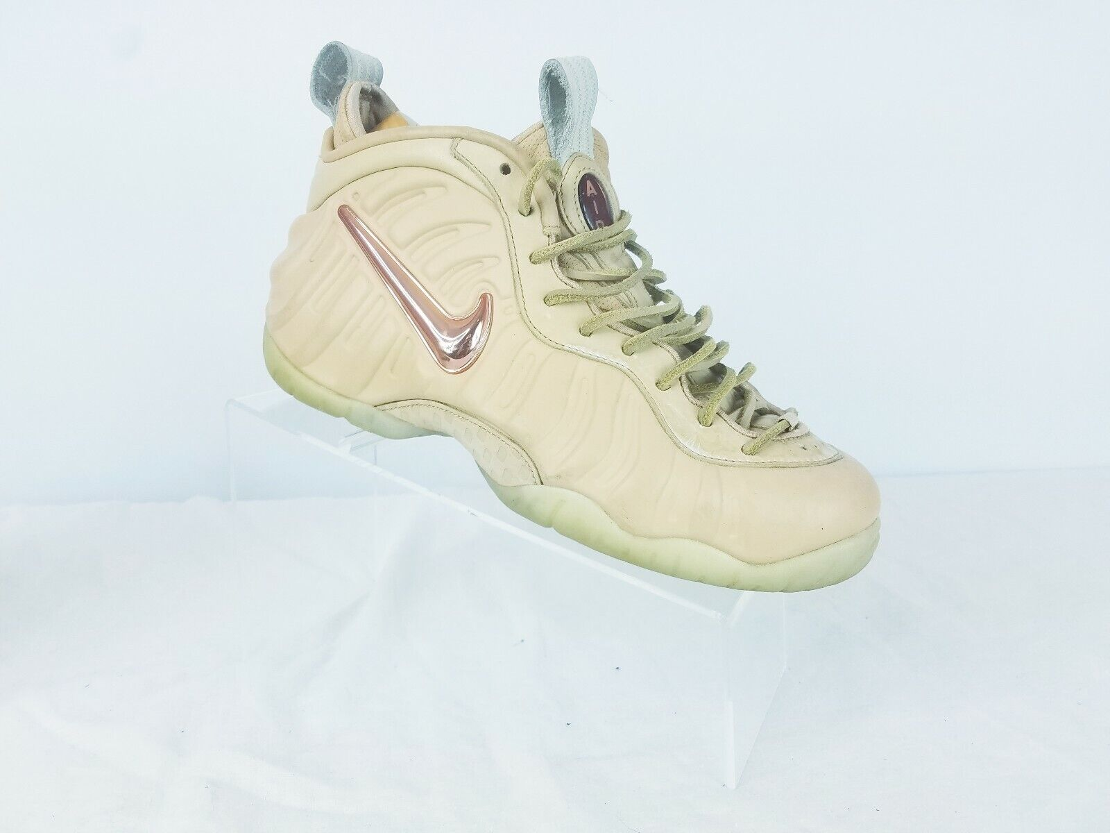 Nike Air Foamposite Pro PRM AS QS Vachetta Tan pink gold 920377-200 Size 7
