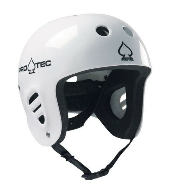 Pro-tec Classic Full Cut Watersports Helmet, wake, canoe, L, Gloss White 61282