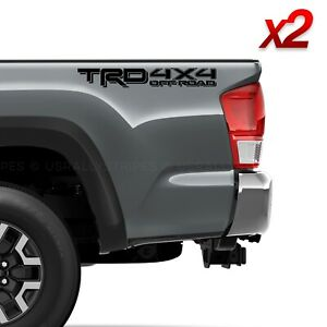 Set of 2: 2019 TRD 4x4 off-road vinyl decals for Toyota Tacoma Tundra 4Runner