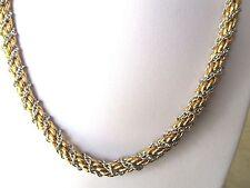 collier bijou vintage couleur or argent torsadé maille décor effet diamanté *295