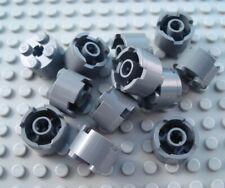 LEGO Lot of 12 Dark Bluish Gray 2x2 Round Bricks