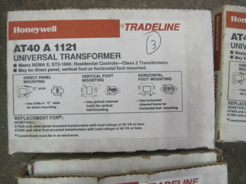 NEW HONEYWELL AT40A1121 TRANSFORMER