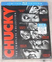 Chucky Komplette Sammlung (1,2,3,4,5,6) Kinder Play - Blu-ray Box-Set VERSIEGELT