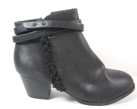 NEW Womens SODA VAIL Black Ankle Pull on  Heel Dress Boots Shoes SZ 9