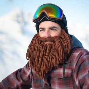 Winter Warm Men Viking Beard Cap Ski Cosplay Hats Wool Face Mask ... bb4af4d1f09