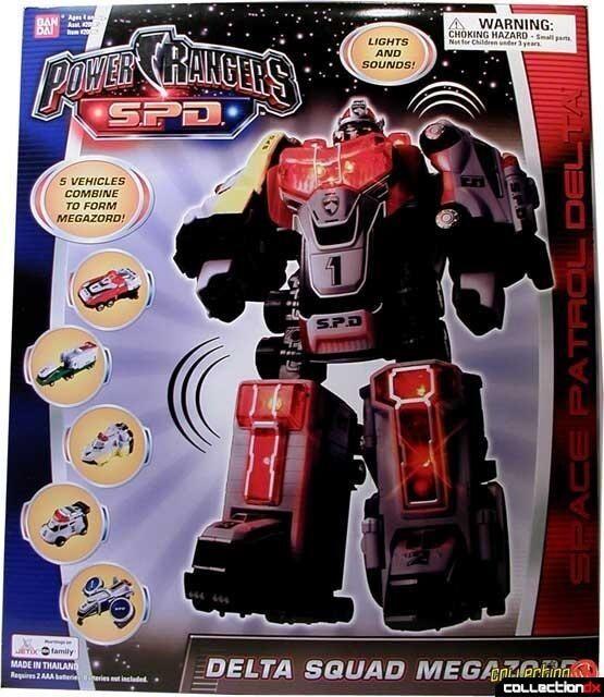 NIB RARE Bandai Power Rangers SPD Delta Squad Megazord
