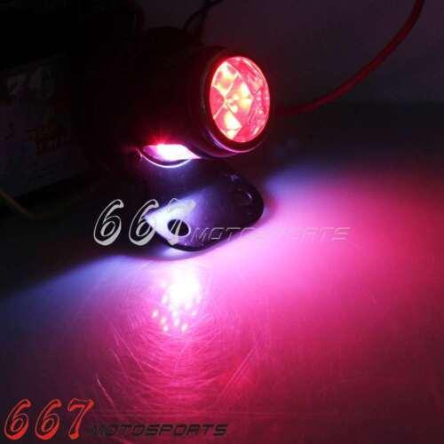 Motorcycle Lucas LED Tail Light Lamp For Cafe Racer Bobber Chopper Harley Black
