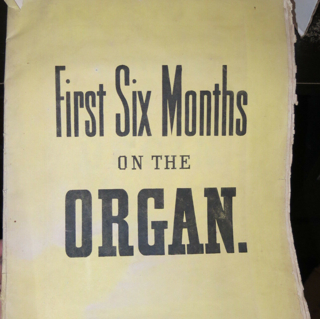 Whiting's First Six Months on the Organ c 1870 25 Progressive Studies Rare