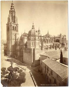 Espagne-Espana-Tolede-la-cathedrale-Sainte-Marie-Vintage-albumen-print-Ti