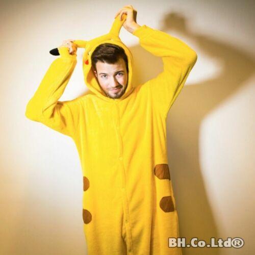 Pikachu Adult Kid Stich Unisex Kigurumi Pajamas Cosplay Costume Unicorn Ones1A