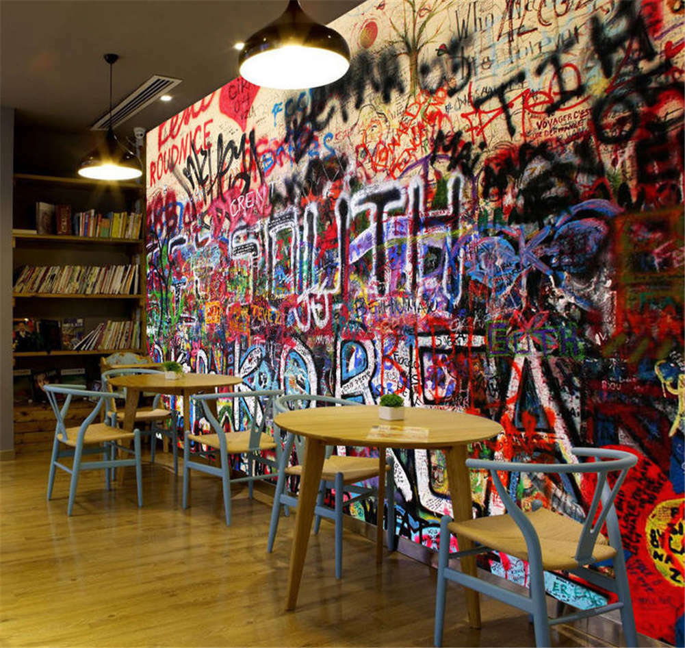 Vague Dense Scrawl 3D Full Wall Mural Photo Wallpaper Printing Home Kids Decor
