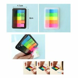 100X Fluorescence Sticky Notes Memo Flags Bookmark Marker Tab Sticker