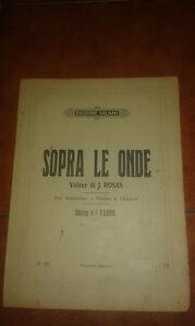 Juventino-Rosas-Encima-Ondas-Partitura-Vals-para-Mandolina-Guitarra-Salani-1924