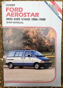 1986 1987 1988 ford aerostar mini van repair manual by clymer rh ebay com Ford Minivan Ford Minivan
