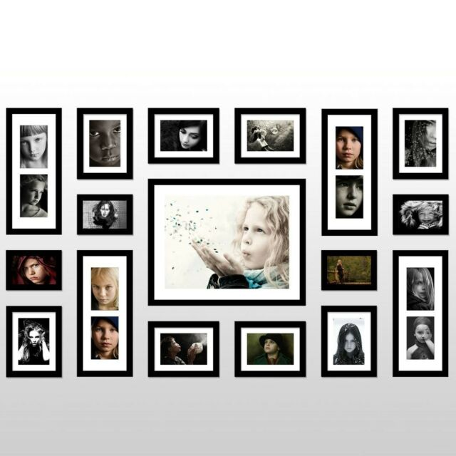 CA36 17 Pcs Modern Picture set Hanging Art Home Decor  Photo wall Frame Set