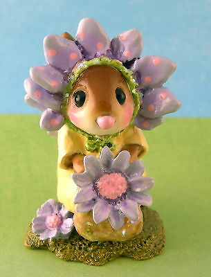 MARY MARY QUITE CONTRARY by Wee Forest Folk, Purple Flower, Mouse Expo 2012