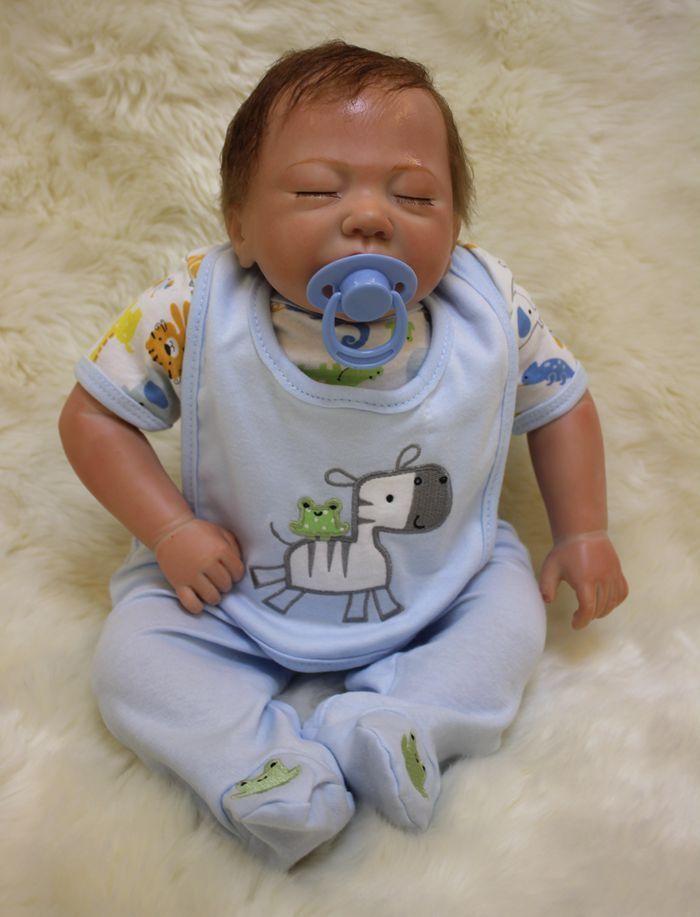 Hot Hecho a Mano Muñeca Bebé Niño Reborn 18  realista recién nacido Vinilo Suave Silicona giift