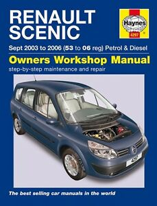 haynes owners workshop manual renault scenic pet diesel 03 06 rh ebay com service manual renault scenic 3 service manual renault megane 3