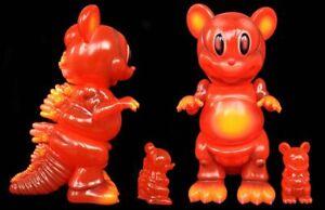 Ron English x BlackBook Toy MOUSEZILLA Magma Red Edition GODZILLA x MICKEY MOUSE