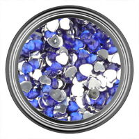 Dark Blue Heart Rhinestone Gems Flatback Face Art Nail Art Jewels Decoration