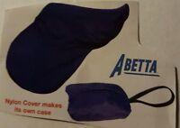 Abetta Nylon English Saddle/tote Cover - Navy/hunter Green Or Black