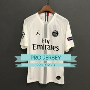 online store b5662 f3784 Details about NEW Paris PSG x Jordan White/Black Player Version Jersey  2018/2019 MBAPPE NEYMAR