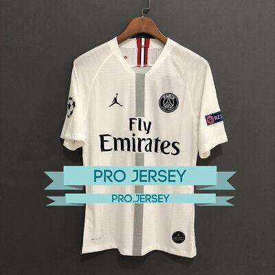 New Paris Psg X Jordan White Black Player Version Jersey 2018 2019 Mbappe Neymar Ebay