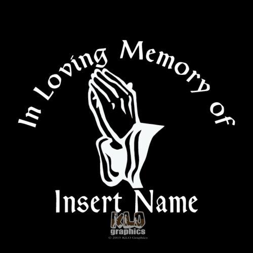 Sticker Anpassbare Denkmal Hände Vinyl Aufkleber Liebevolle Erinnerung