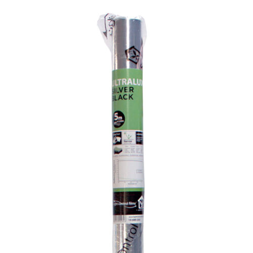 Silver black 1.22 x 5m Ideal For Growrooms Hydroponics LightHouse Ultralux