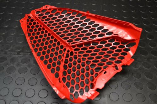 YAMAHA RAPTOR 700 GRILL RADIATOR GUARD RED PLASTIC FRONT VENTED COVER 13-17