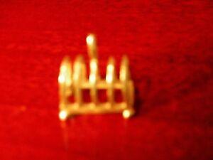 Collection Ici 1/12th Dollshouse Miniature Warwick Miniatures Métal Toast Rack-afficher Le Titre D'origine Convient Aux Hommes, Femmes Et Enfants