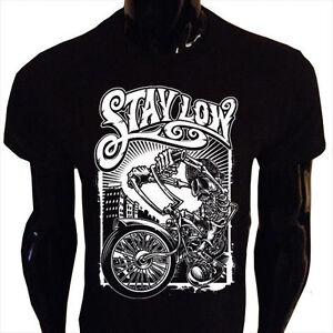 Restate-Basse-T-shirt-da-Uomo-Divertente-Biker-Rider-Lowrider-Scheletro-Harley-Bike-lr2