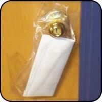 6 x 12 1.5 mil clear doorknob bags bndl of 500 literature drop bags