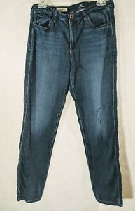 Adriano-Goldschmied-Womens-The-Prima-Mid-Rise-Cigarette-Dark-Wash-Jeans-Size-31R