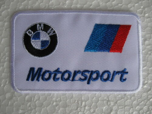 Aufnäher Patch BMW Racing Motorsport Autocross Tuning Biker Chopper Patches