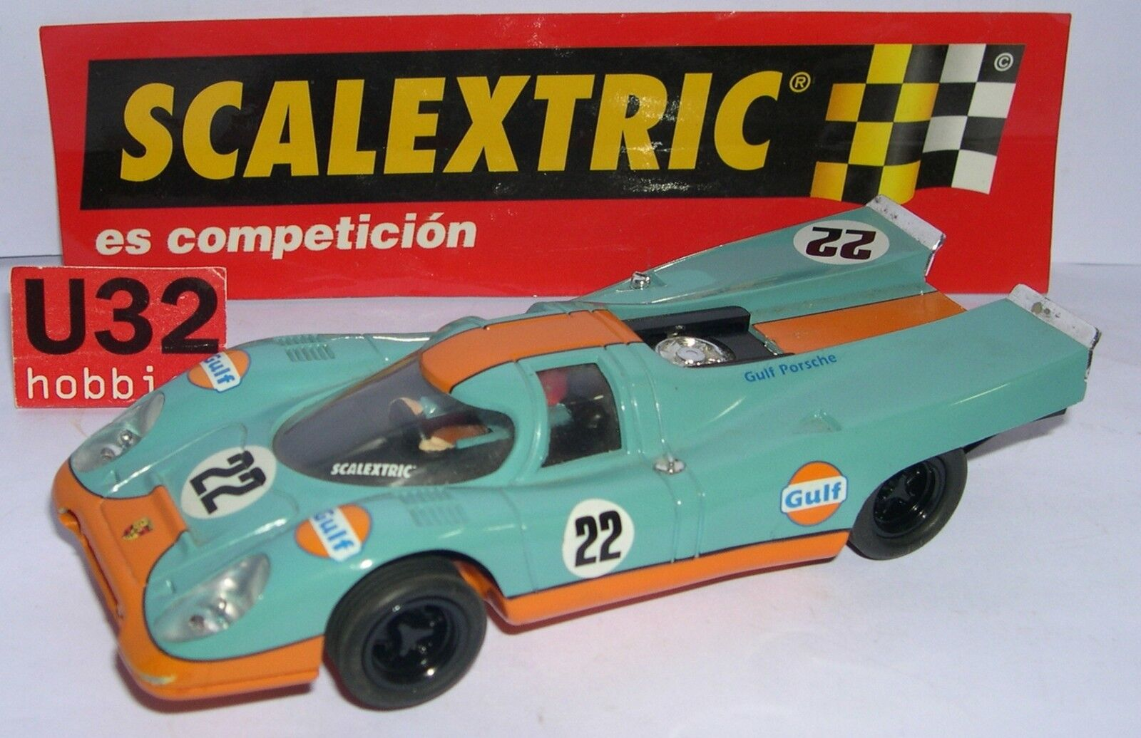 SCALEXTRIC SPAIN ALTAYA CARS MYTHICAL PORSCHE 917 GULF LTED. ED