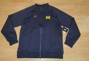 09f62b6192d6 Air Jordan Michigan Wolverines AJ1 WINGS Warm-Up Full Zip Jacket ...