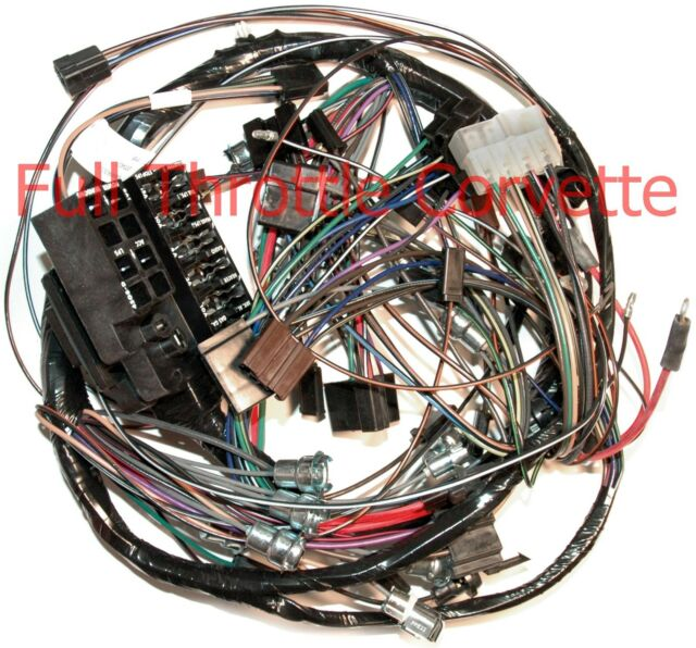 1964 64 Corvette Dash Wiring Harness. With Back-Up lights ...